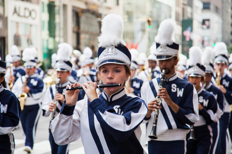Labor Day Parade in New York stock images
