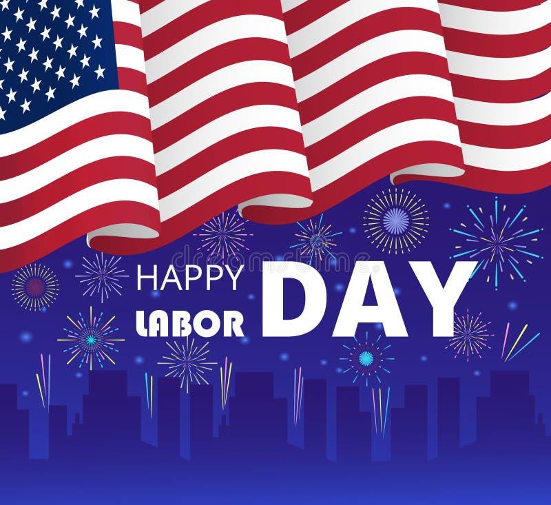 Labor Day poster or header for web vector illustration