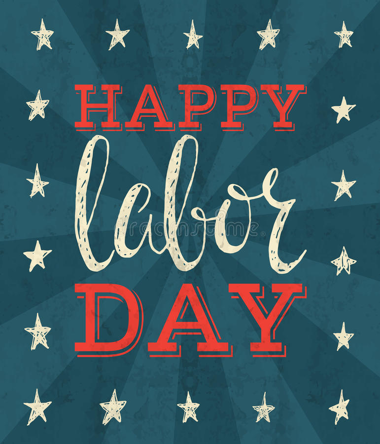Labor day poster. royalty free illustration