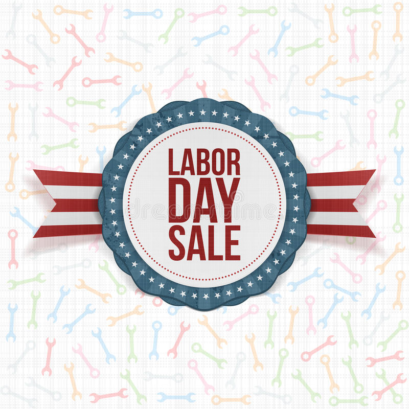 Labor Day Sale Background Template. Vector Illustration stock illustration