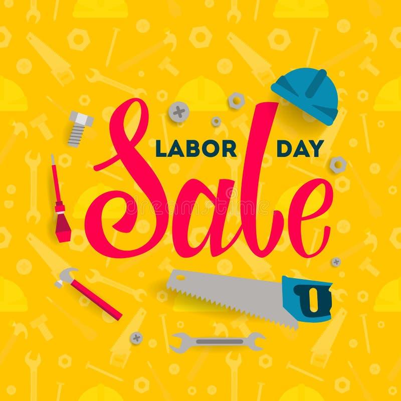 Labor Day sale. stock illustration