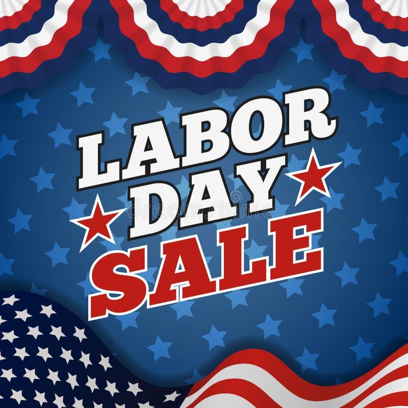 Labor day sale promotion advertising banner design vector illustration