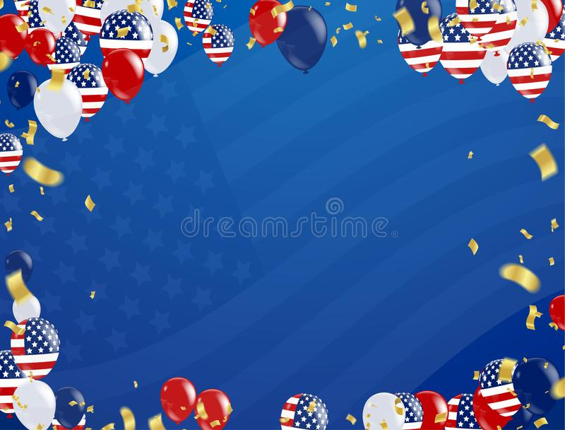 Labor day sale promotion advertising banner template. American l stock illustration