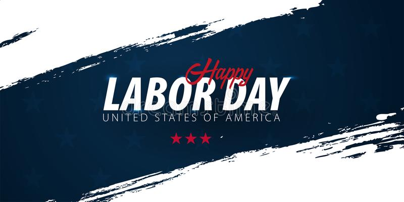 Labor Day sale promotion, advertising, poster, banner, template with American flag. American labor day wallpaper. Voucher discount royalty free illustration