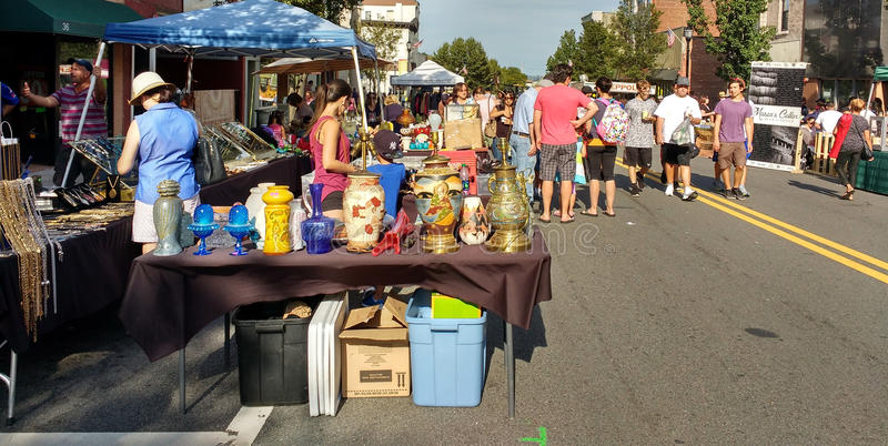 Labor Day Street Fair, Rutherford, New Jersey, USA royalty free stock images