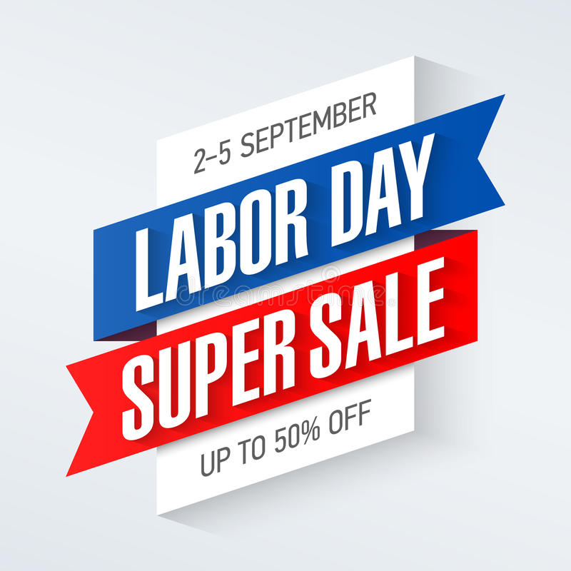 Labor Day Super Sale banner stock illustration