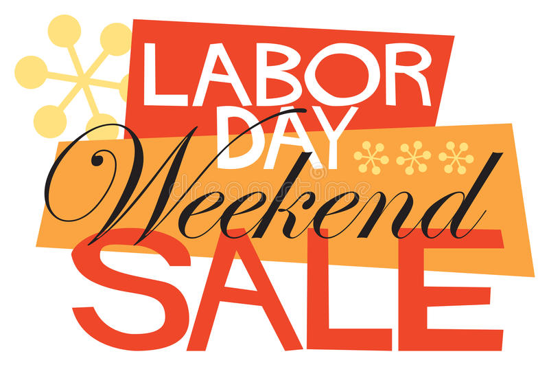 Labor Day Weekend Sale. Announce that Labor Day Weekend Sale with this fun, retro-modern logo type design, useful in a variety of applications: banner, magazine vector illustration