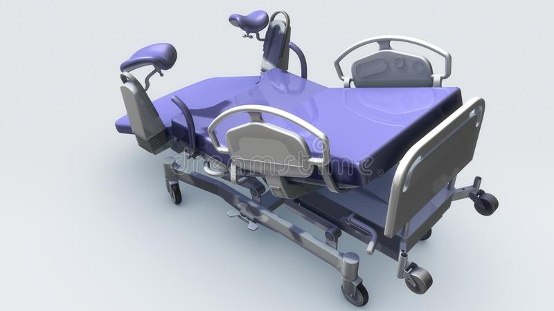 Labor and delivery tables. That is composed by the main one and the assistant one. The main delivery bed adopts hydraulic pressure step to rise and down stock illustration