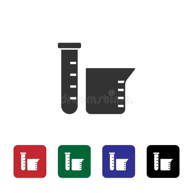 Labor, Flaschenvektorikone Einfache Elementillustration vom Biotechnologiekonzept Labor, Flaschenvektorikone lizenzfreie abbildung