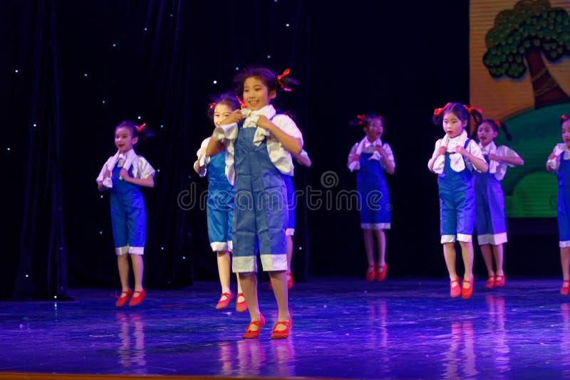 Labor glory- Beijing Dance Academy grading test outstanding children`s dance teaching achievement exhibition Jiangxi. Sponsored by the Beijing Dance Academy royalty free stock photography