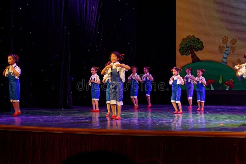 Labor glory- Beijing Dance Academy grading test outstanding children`s dance teaching achievement exhibition Jiangxi. Sponsored by the Beijing Dance Academy royalty free stock image