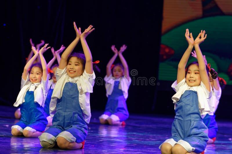 Labor glory- Beijing Dance Academy grading test outstanding children`s dance teaching achievement exhibition Jiangxi. Sponsored by the Beijing Dance Academy royalty free stock photo