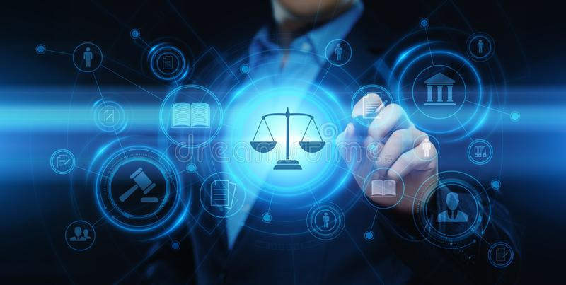 Labor Law Lawyer Legal Business Internet Technology Concept.  royalty free stock image