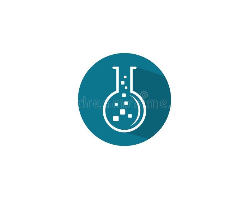 Labor Logo Template lizenzfreie abbildung