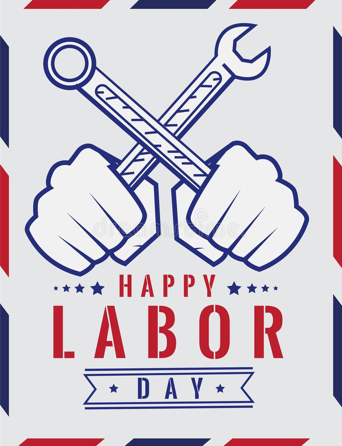 Labor simple Illustration Poster Design royalty free stock photography