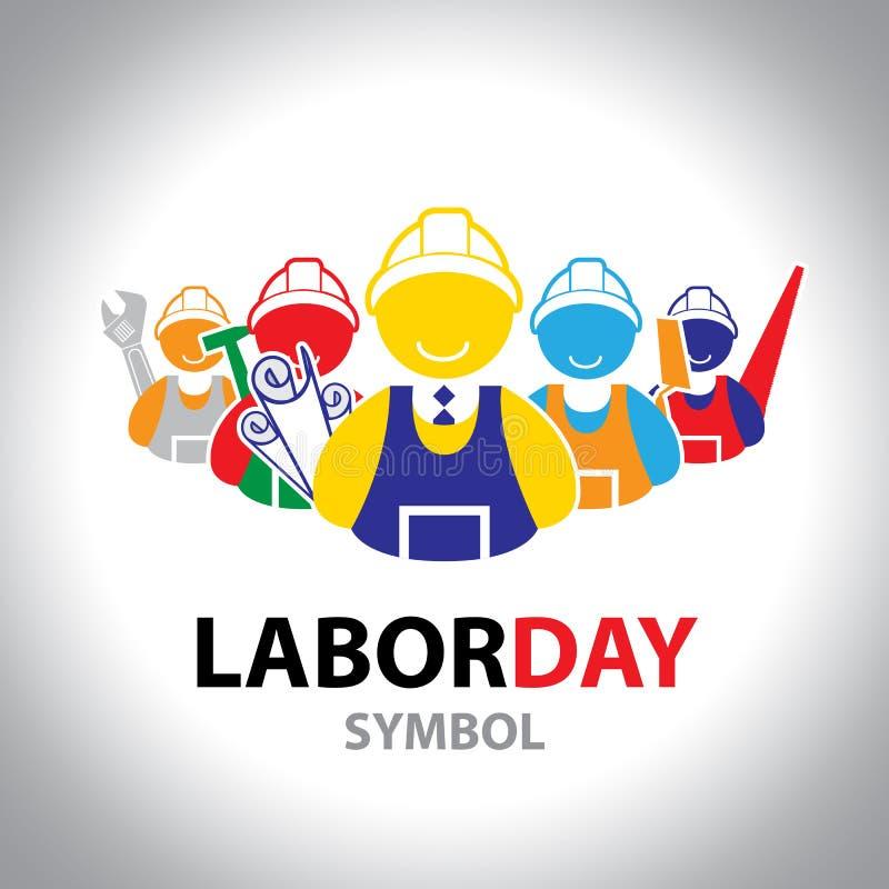 Labor symbol icon. Vector design. Labor day concept royalty free illustration
