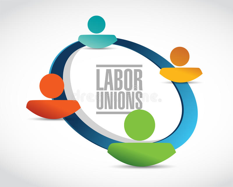 labor unions people concept illustration vector illustration