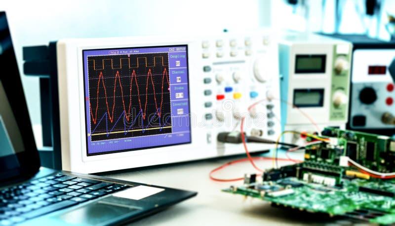 Labor von Forschungsmikroelektronik lizenzfreies stockfoto