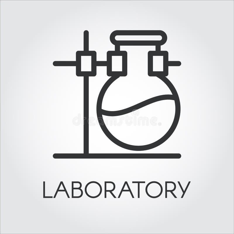 Laborancka ikona Chemii i badania pojęcie ilustracji