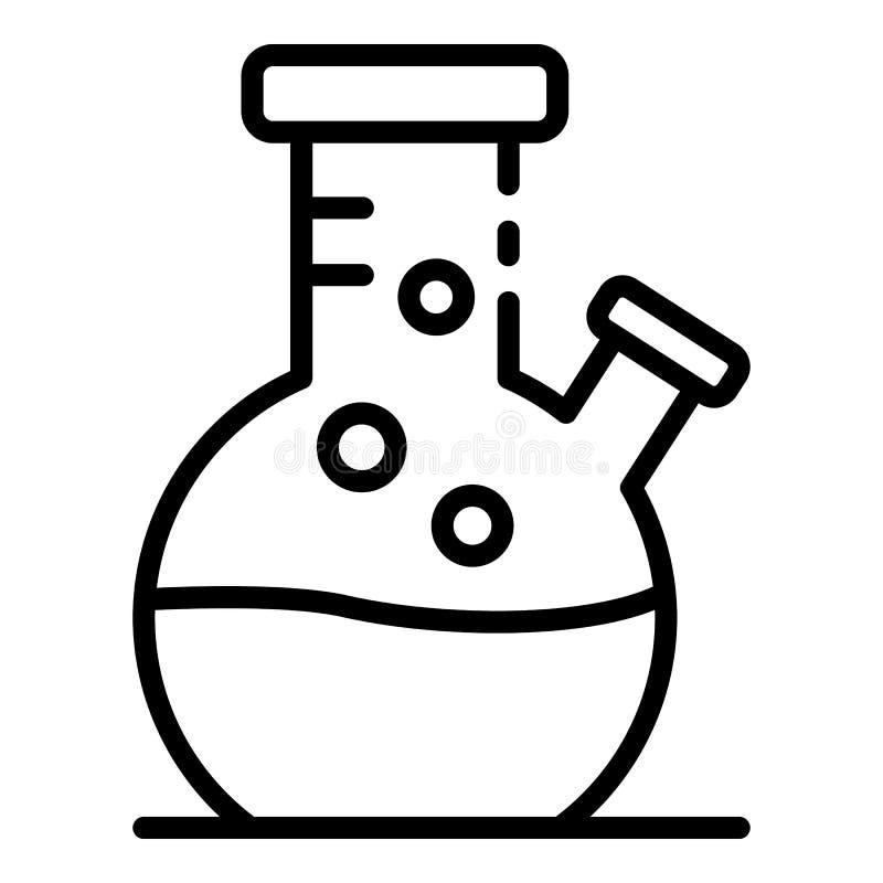 Laborancka kolbiasta ikona, konturu styl royalty ilustracja
