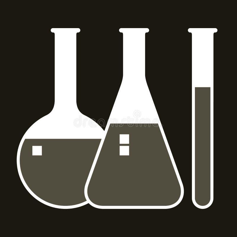 Laborancki glassware ilustracji