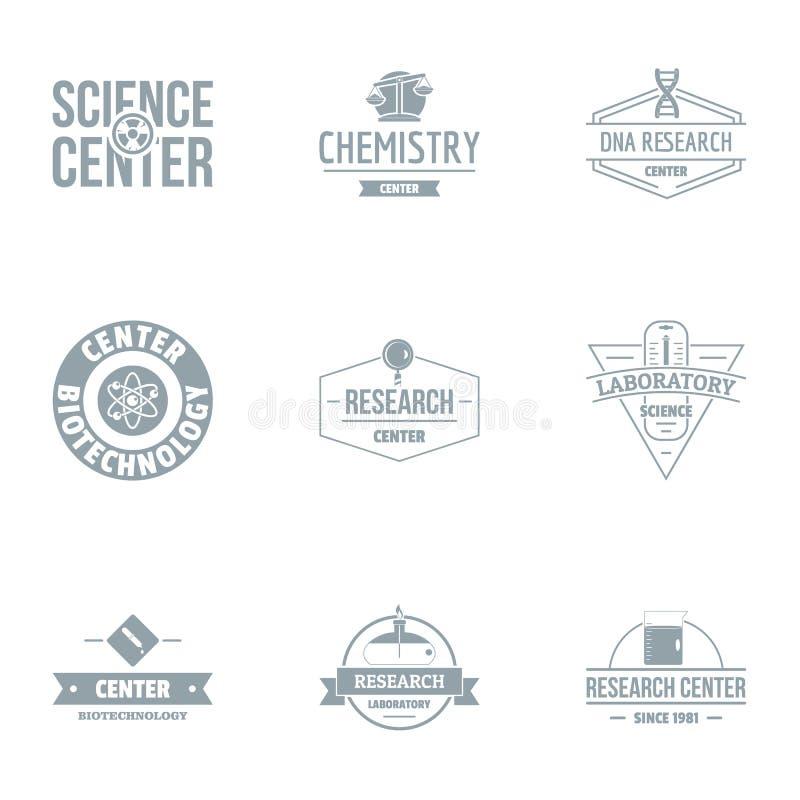 Laborancki loga set, prosty styl ilustracji