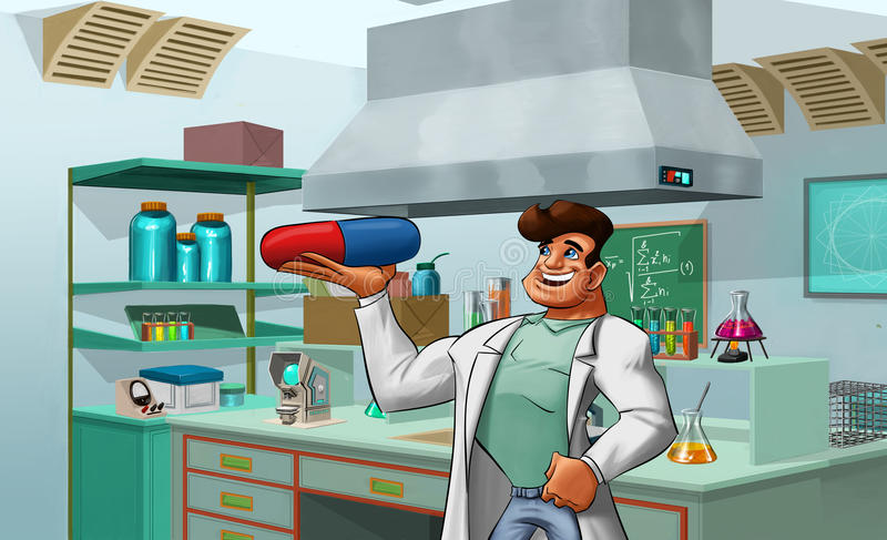 laborancki student medycyny ilustracja wektor