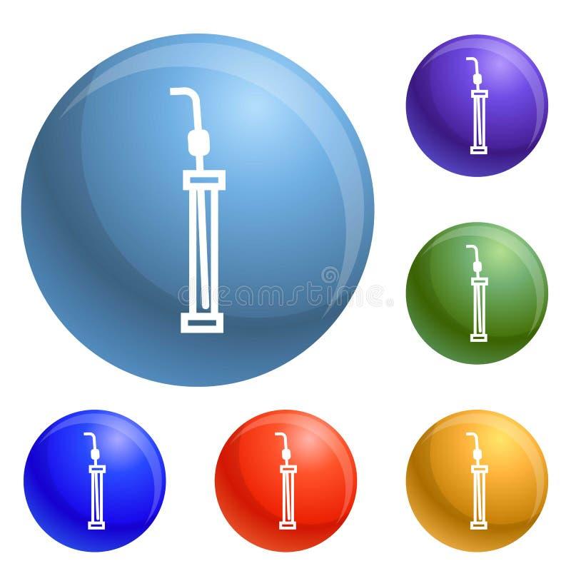 Laboranckie ikony ustawiający pipeta wektor ilustracja wektor