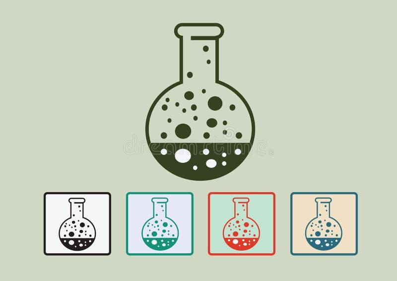 Laboranckiego wyposażenia ikony set ilustracja wektor