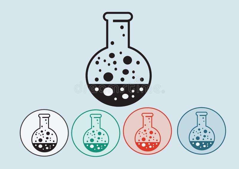Laboranckiego wyposażenia ikony set ilustracji