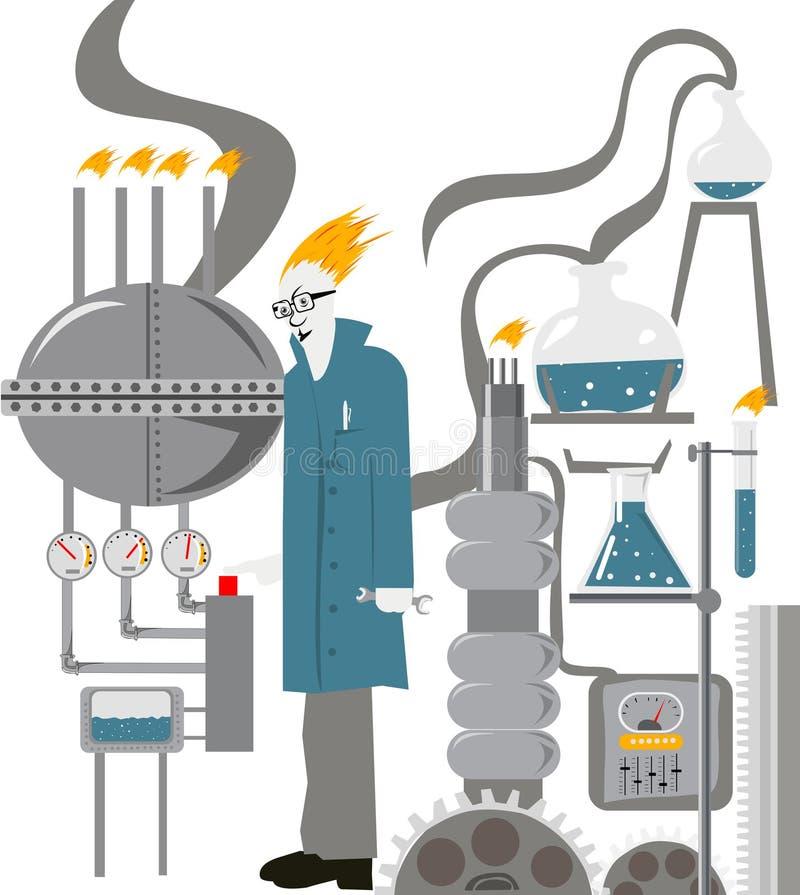 Laboratório ilustração do vetor