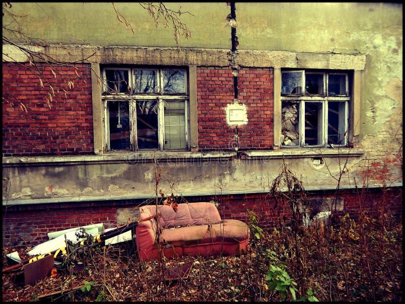 Laboratório abandonado do meth imagens de stock