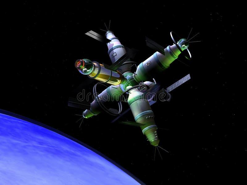 Laboratório de espaço futuro ilustração do vetor