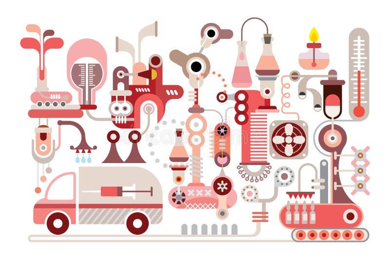 Laboratório de pesquisa ilustração stock
