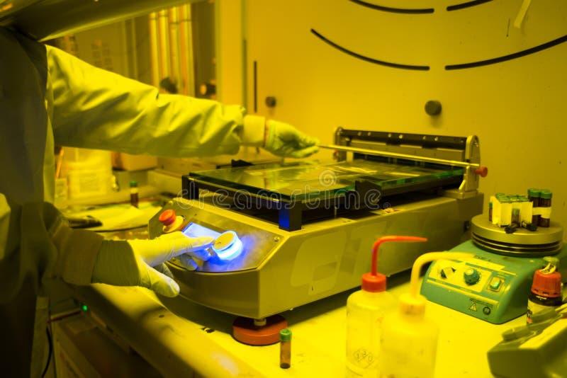 Laboratório de pesquisa da nanotecnologia fotografia de stock