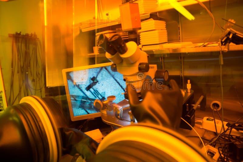 Laboratório de pesquisa da nanotecnologia fotografia de stock royalty free