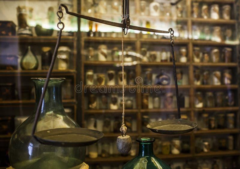 Laboratório do vintage imagem de stock