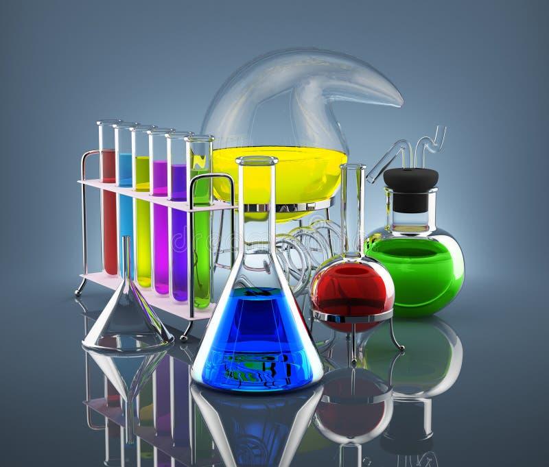 Laboratório químico ilustração stock