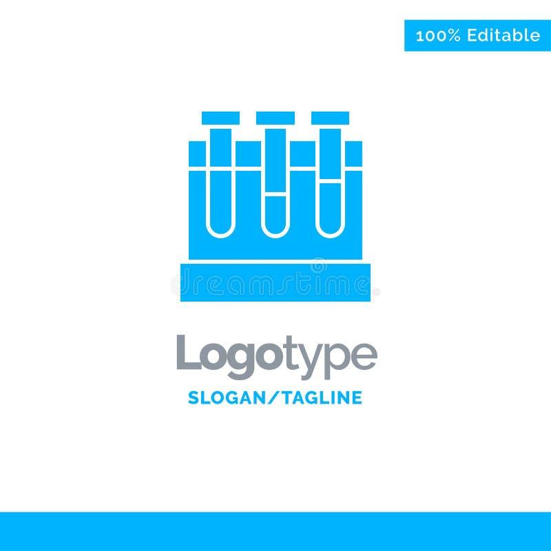 Laboratoire, baquets, essai, éducation Logo Template solide bleu Endroit pour le Tagline illustration de vecteur