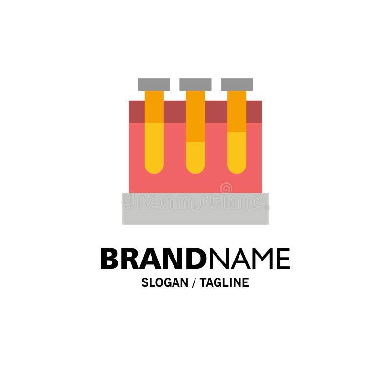 Laboratoire, baquets, essai, affaires d'éducation Logo Template couleur plate illustration libre de droits