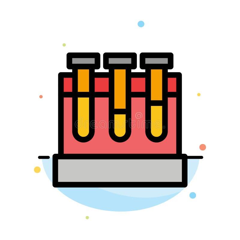 Laboratoire, baquets, essai, calibre plat d'icône de couleur d'abrégé sur éducation illustration de vecteur