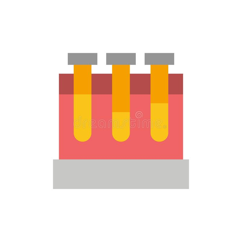 Laboratoire, baquets, essai, icône plate de couleur d'éducation Calibre de bannière d'icône de vecteur illustration libre de droits