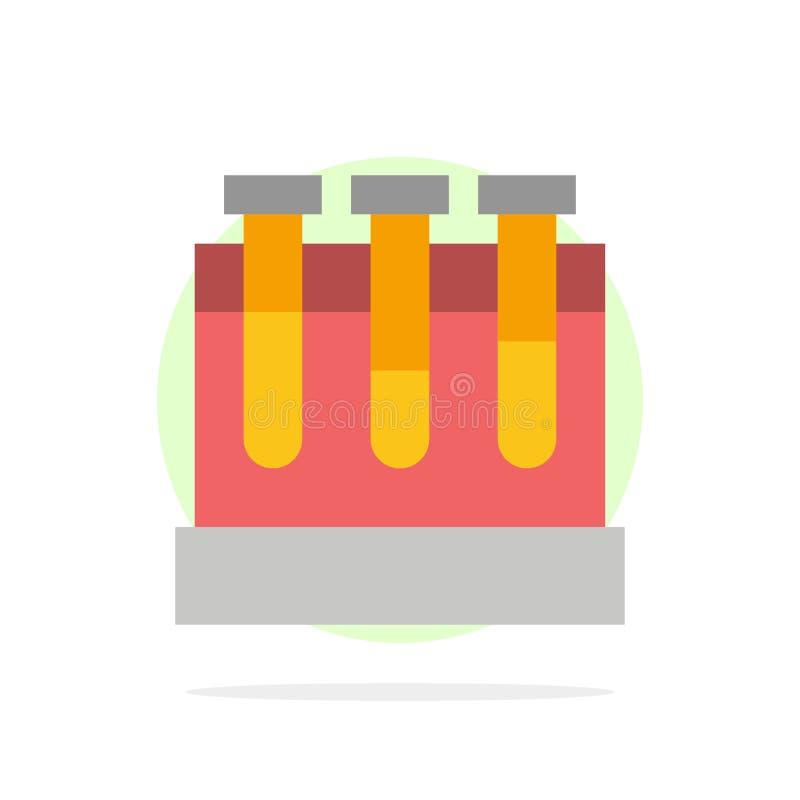 Laboratoire, baquets, essai, icône plate de couleur de fond abstrait de cercle d'éducation illustration libre de droits
