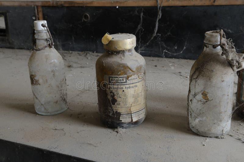 Laboratoire chimique abandonné. photographie stock libre de droits