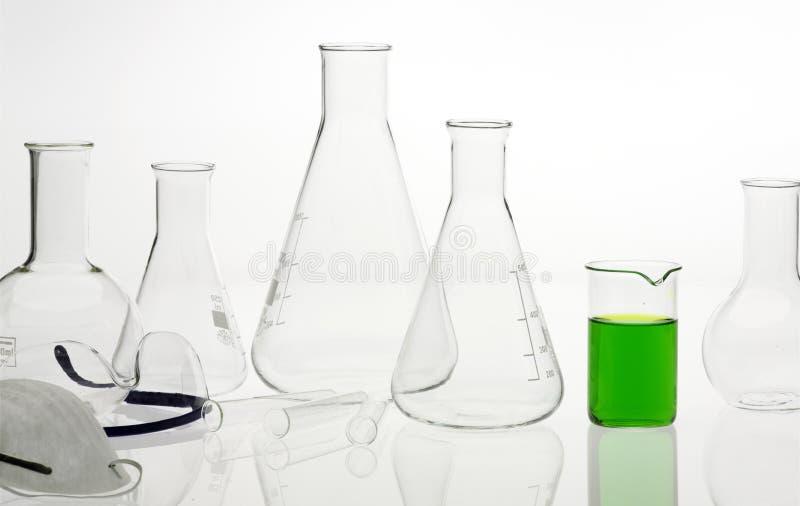 laboratoire chimique de flacons images libres de droits