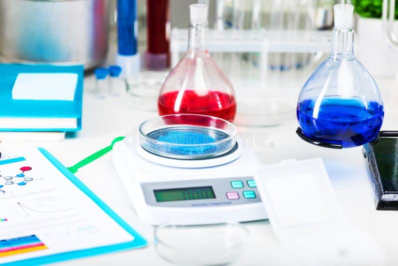 laboratoire chimique de matériel image stock