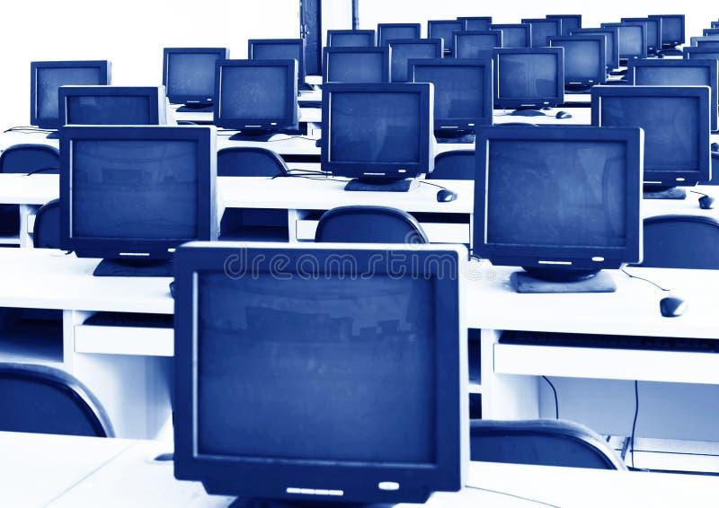 Laboratoire d'ordinateur photographie stock
