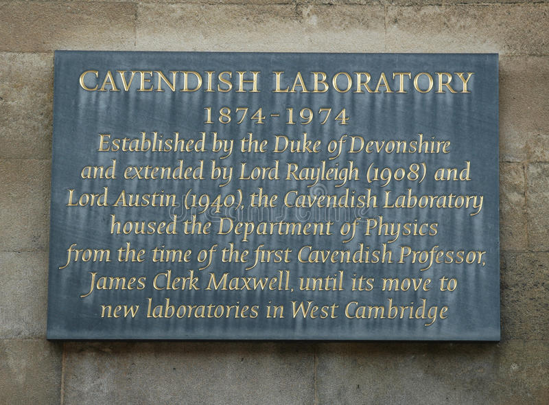 Laboratoire de Cavendish photos stock