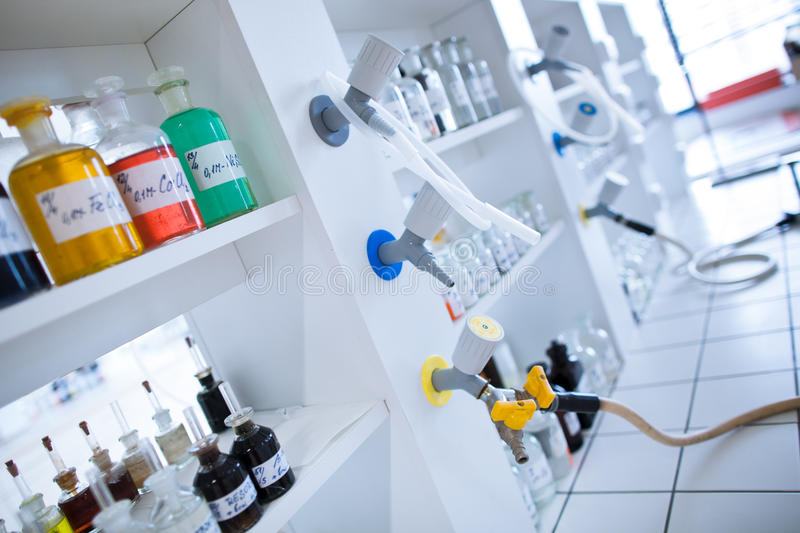Laboratoire de chimie image stock