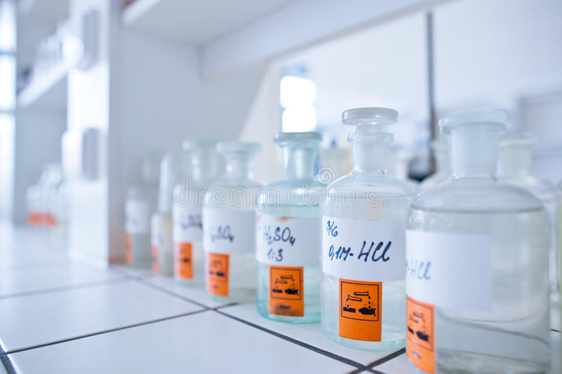 Laboratoire de chimie photo stock